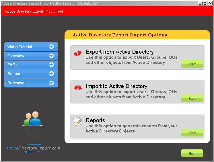 Active Directory Export 3.0